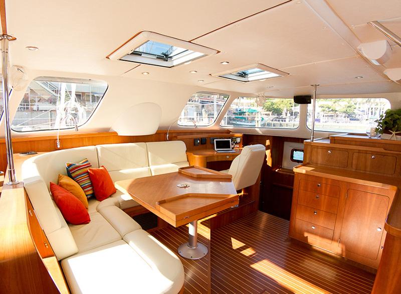 catamaran interior