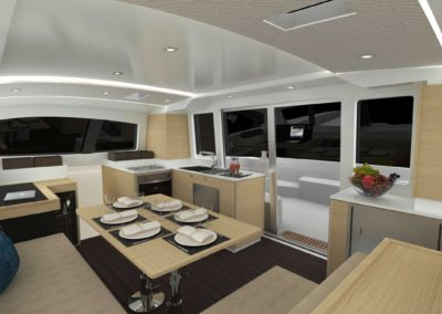Outremer Interior Gallery X on Lagoon 400 Layout