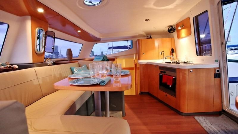 COOL CAT_Fountaine Pjot_Mahe 36_catamarans for sale_Just catamarans_just cats_galley and saloon2