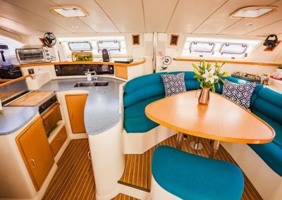 CALYPSO_Leopard 42_catamaran for sale_just catamarans_saloon and galley