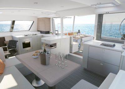 Outremer 5x catamaran saloon