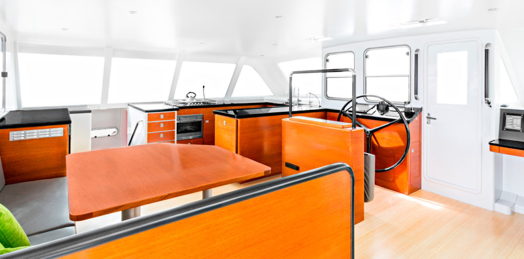 Extreme h2o gunboat catamaran saloon