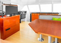 Extreme h2o gunboat catamaran saloon with tv