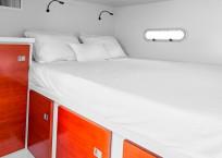 Extreme h2o gunboat catamaran cabin