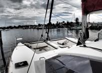 Admiral 40 Catamaran bow