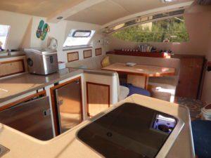 Admiral Executive 40 catamaran for sale galley