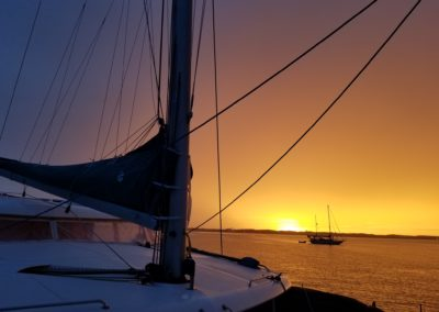 Lagoon 420 Catamaran Sumaya Sol Sunset anchorage