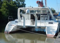 Admiral Executive 40 catamaran for sale aft