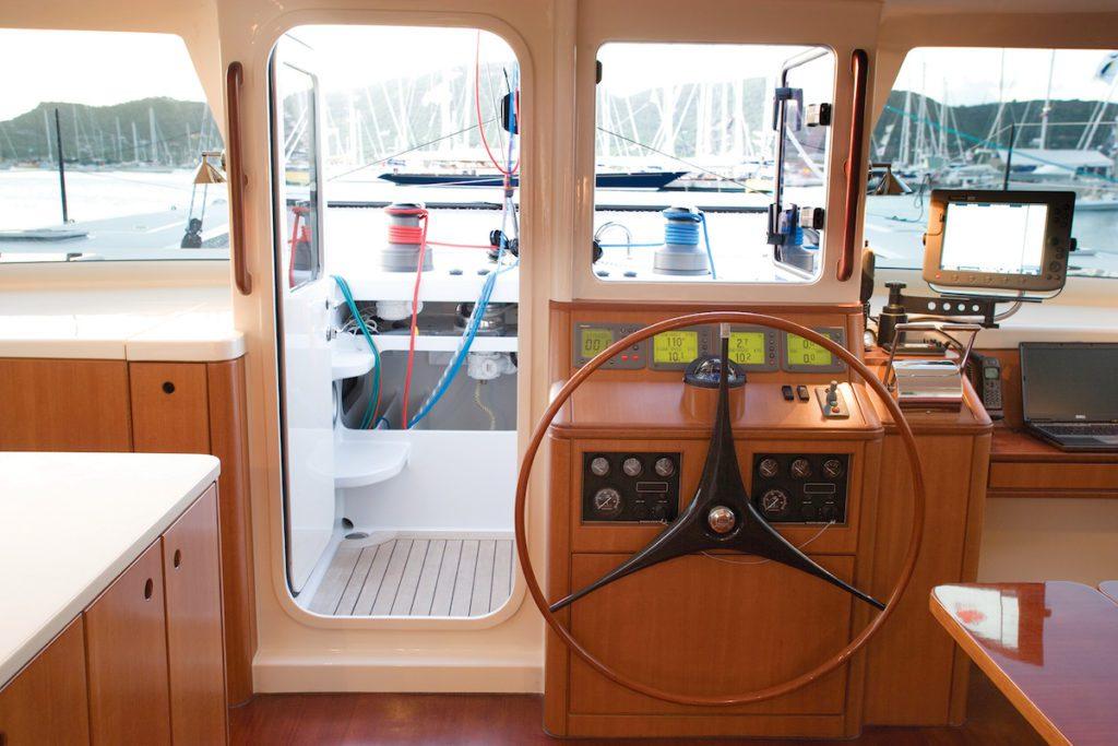 interior helm gunboat catamaran