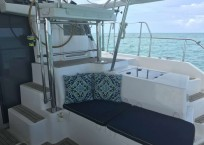 Leopard 40 catamaran seating