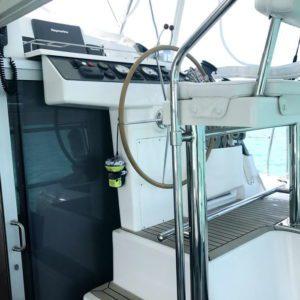 Leopard 40 catamaran helm steps