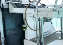 Leopard 40 catamaran helm steps