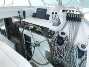 Leopard 40 catamaran helm station