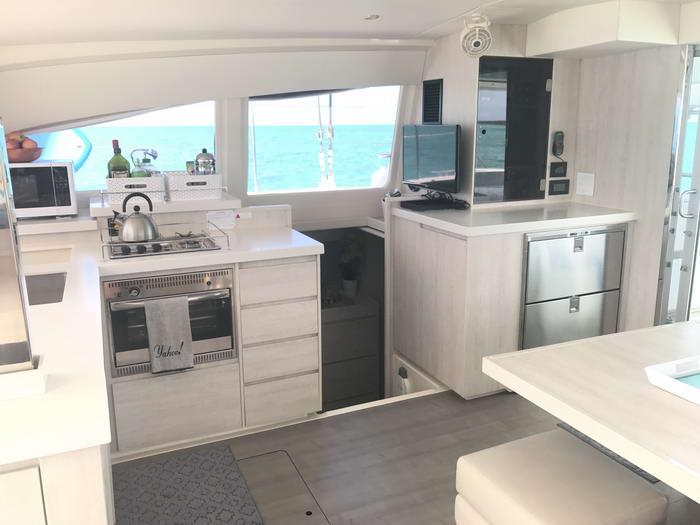 Leopard 40 catamaran interior