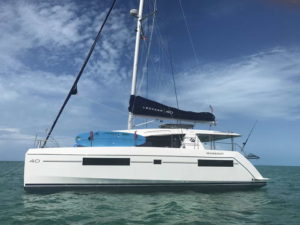 Leopard 40 catamaran port