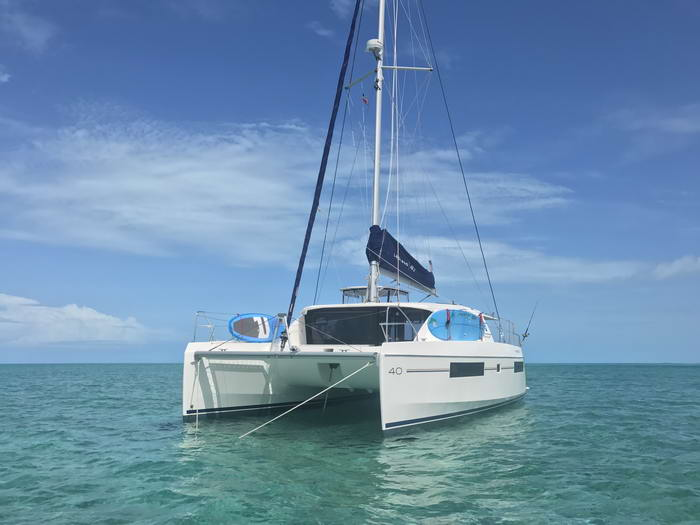 Leopard 40 catamaran profile