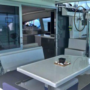Leopard 40 catamaran seating