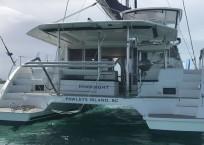 Leopard 40 catamaran aft
