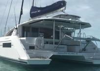 Leopard 40 catamaran stern