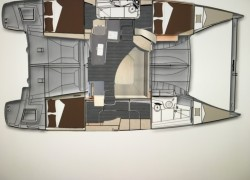 Lipari 41 catamaran Owners Version layout
