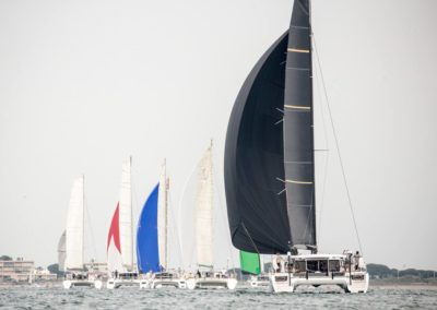 Outremer Cup 2018 catamarans in a row