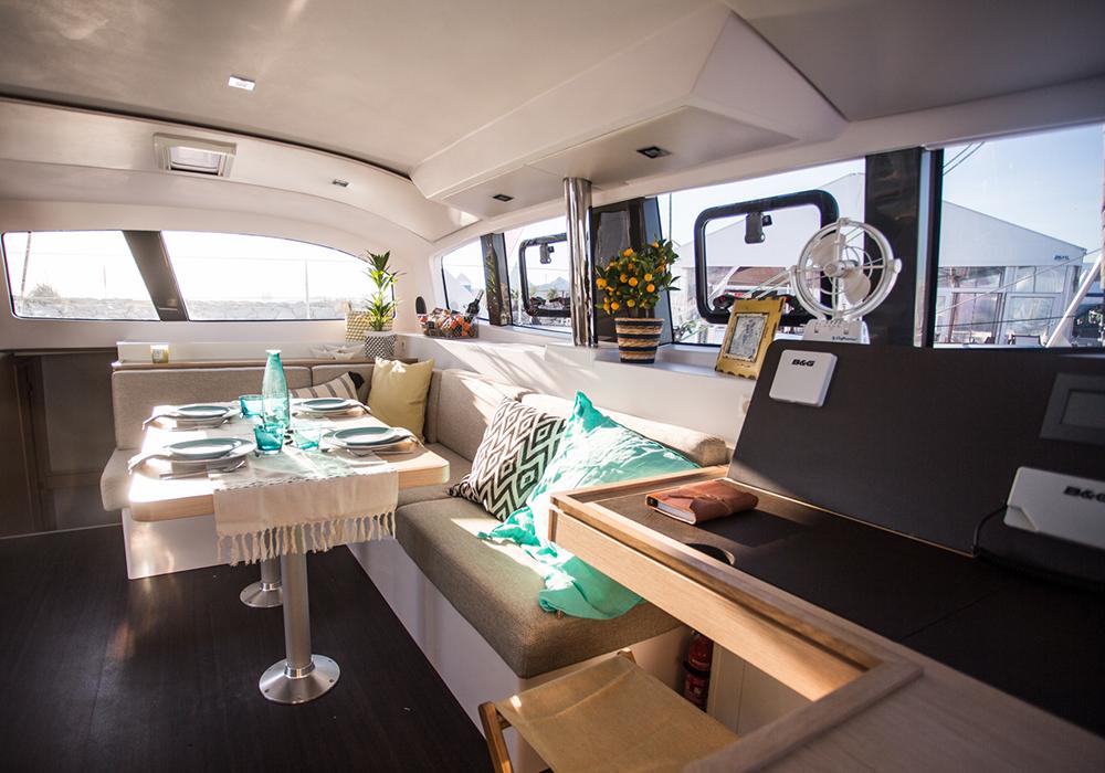 Outremer catamaran spacious nav station