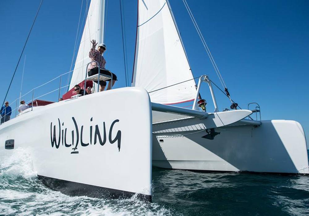 Outremer Catamarans Blue sailing