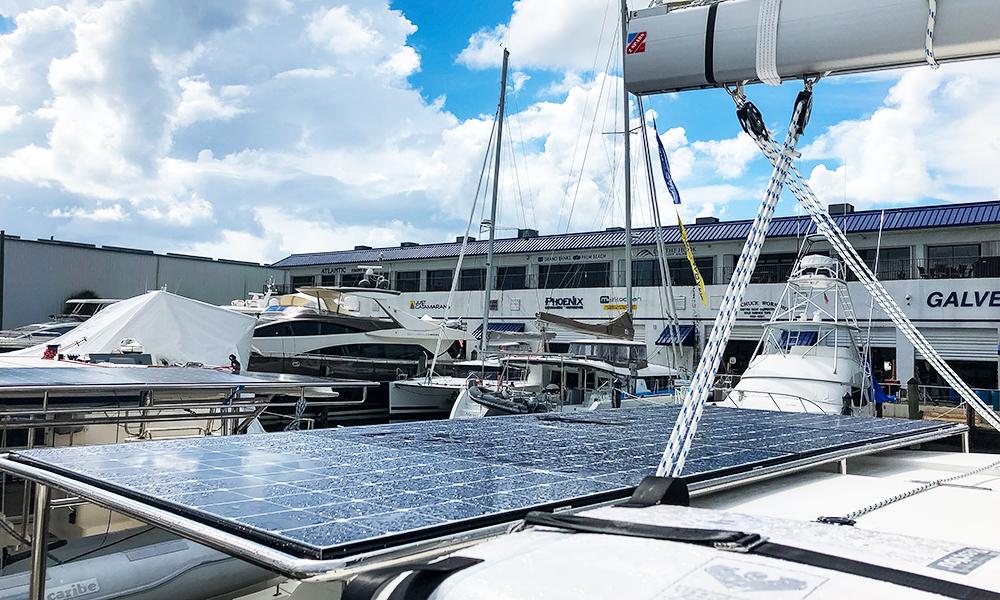 leopard catamaran solar panel