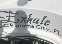 Lagoon 380 EXHALE signage
