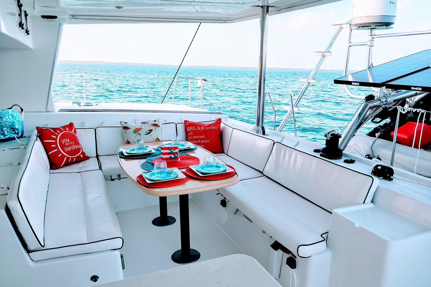 Lagoon 500 Catamaran Seating