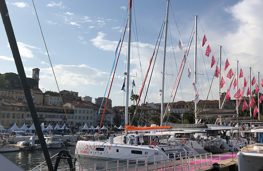 Outremer 51 Catamaran at Cannes Yachting Festival