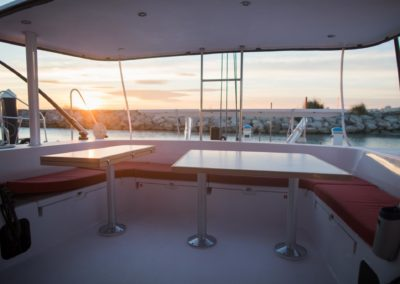 Outremer 51 Aft table