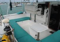Lagoon 37 Catamaran - SOL Y MAR helm