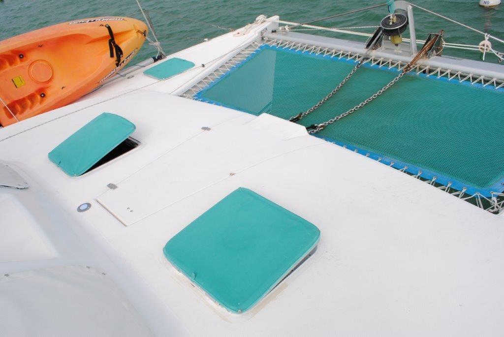 Lagoon 37 Catamaran - SOL Y MAR trampoline