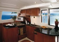 Leopard 47 Power Catamaran - Galley