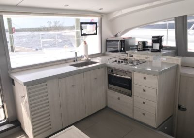 Leopard 43 Power Catamaran Galley