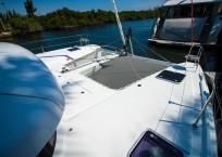 Lagoon 42 Catamaran TANGLED SHEETS bow