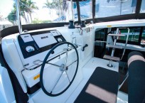 Lagoon 42 Catamaran TANGLED SHEETS helm