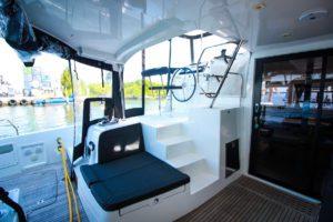 Lagoon 42 Catamaran TANGLED SHEETS helm