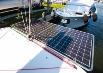 Lagoon 42 Catamaran TANGLED SHEETS solar panels