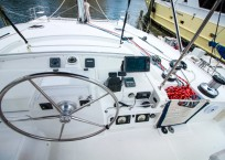 Lagoon Catamaran CIAO ITALIA helm