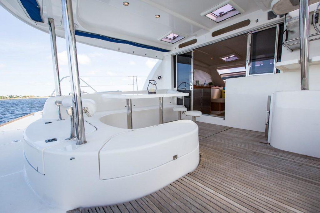 Leopard 46 Catamaran ANDIAMO sold aft seating