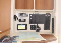 Leopard 47 Catamaran LATITUDE FOUND nav station