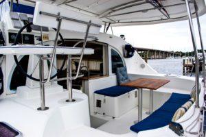 Lagoon 380 Catamaran KEY OF SEA sold cockpit
