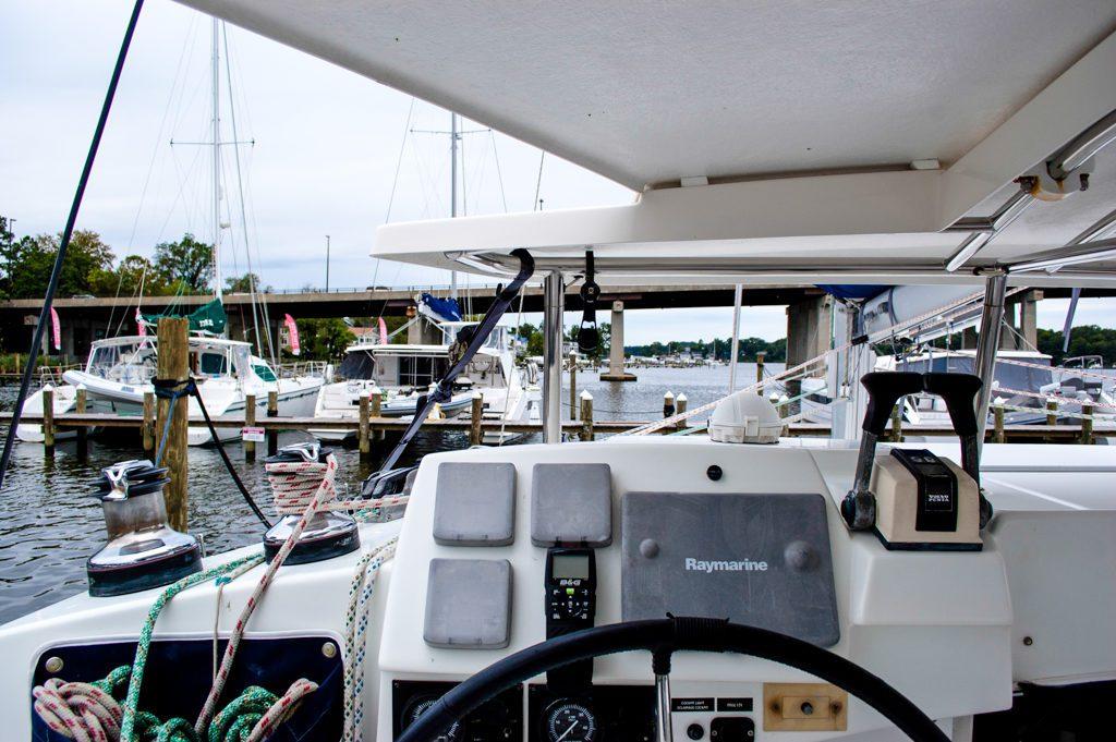 Lagoon 380 Catamaran KEY OF SEA sold helm