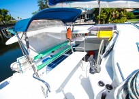 Fountaine Pajot Catamaran NOVA SATUS helm