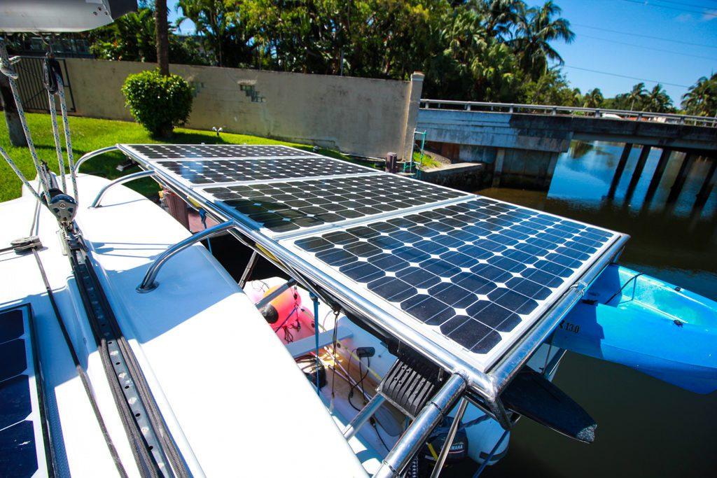 Fountaine Pajot Catamaran NOVA SATUS solar panel