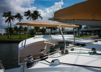 Fountaine Pajot Lipari 41 Catamaran CARDICAT helm enclosure