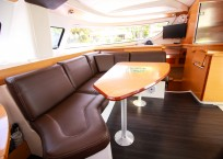 Fountaine Pajot Lipari 41 Catamaran CARDICAT salon seating