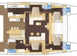 Lagoon 620 Catamaran layout